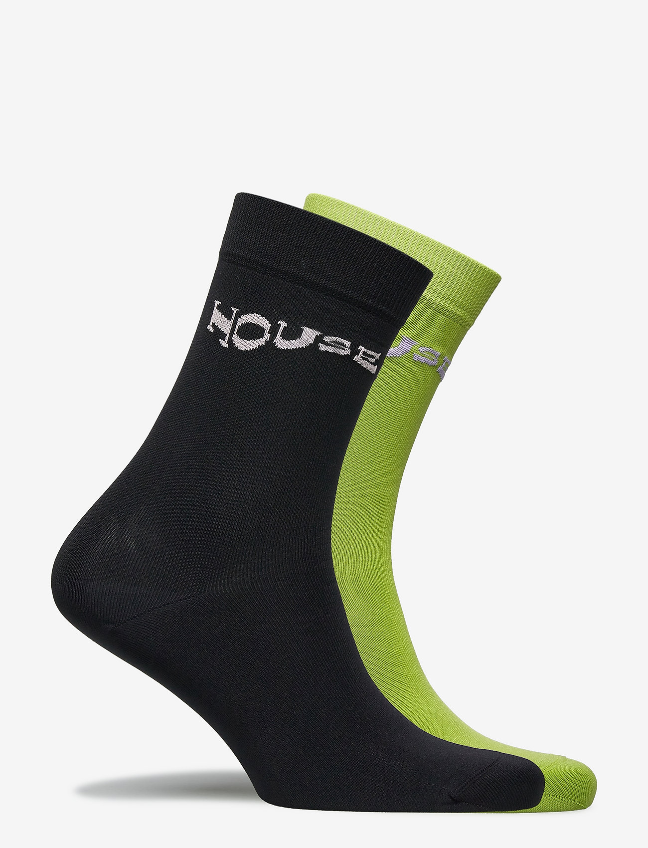 STINE GOYA - Leira, 1207 Rib Socks - almindelige strømper - lime black - 1