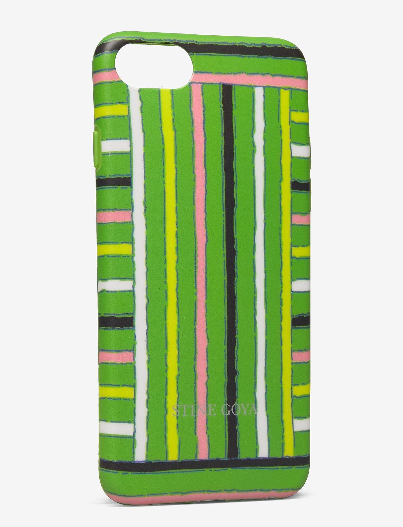 STINE GOYA - Molly, Iphone Cover 6/7/8 - mobilskal - stripes green - 1