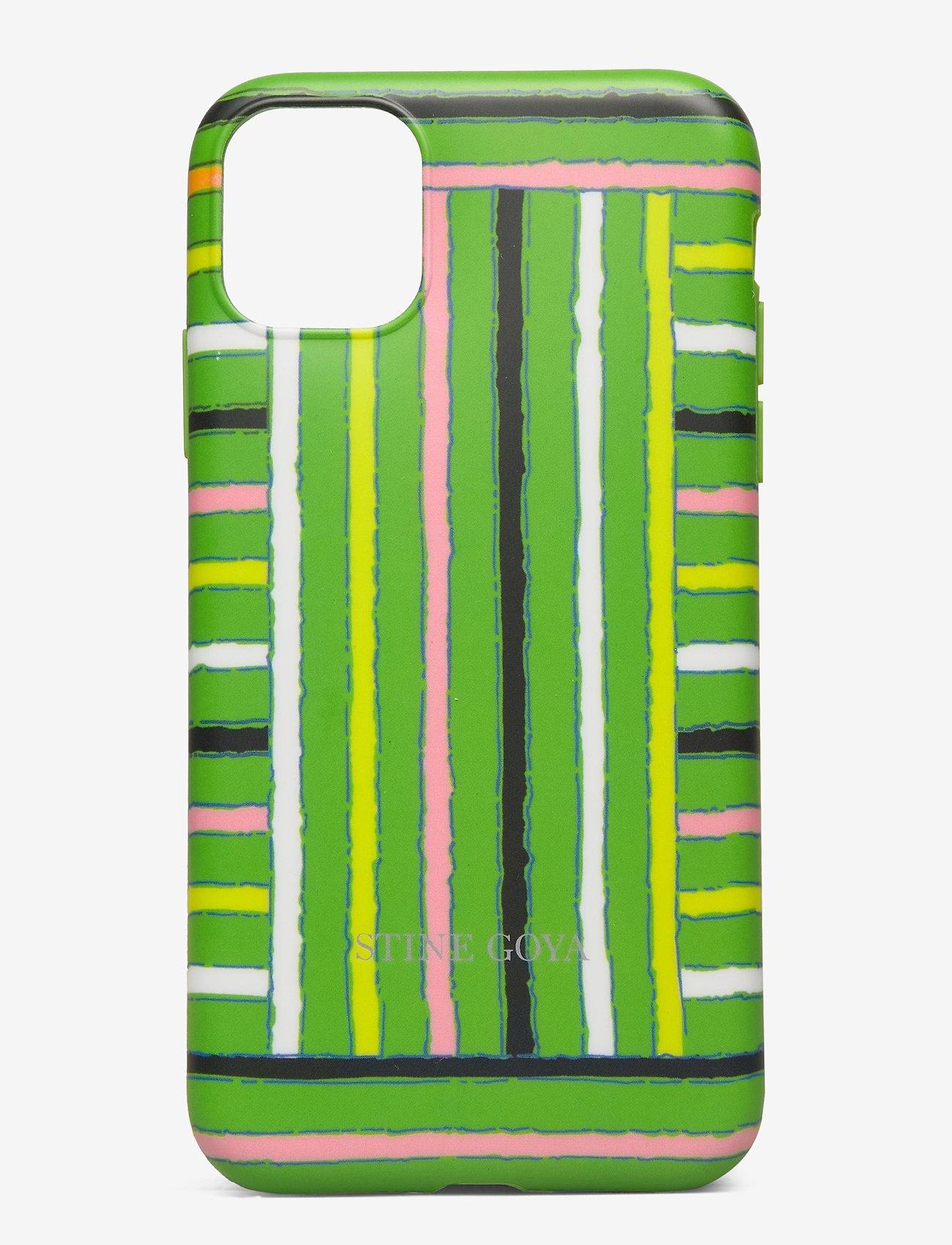 STINE GOYA - Molly, Iphone Cover 11 - mobiele telefoon hoesjes - stripes green - 0