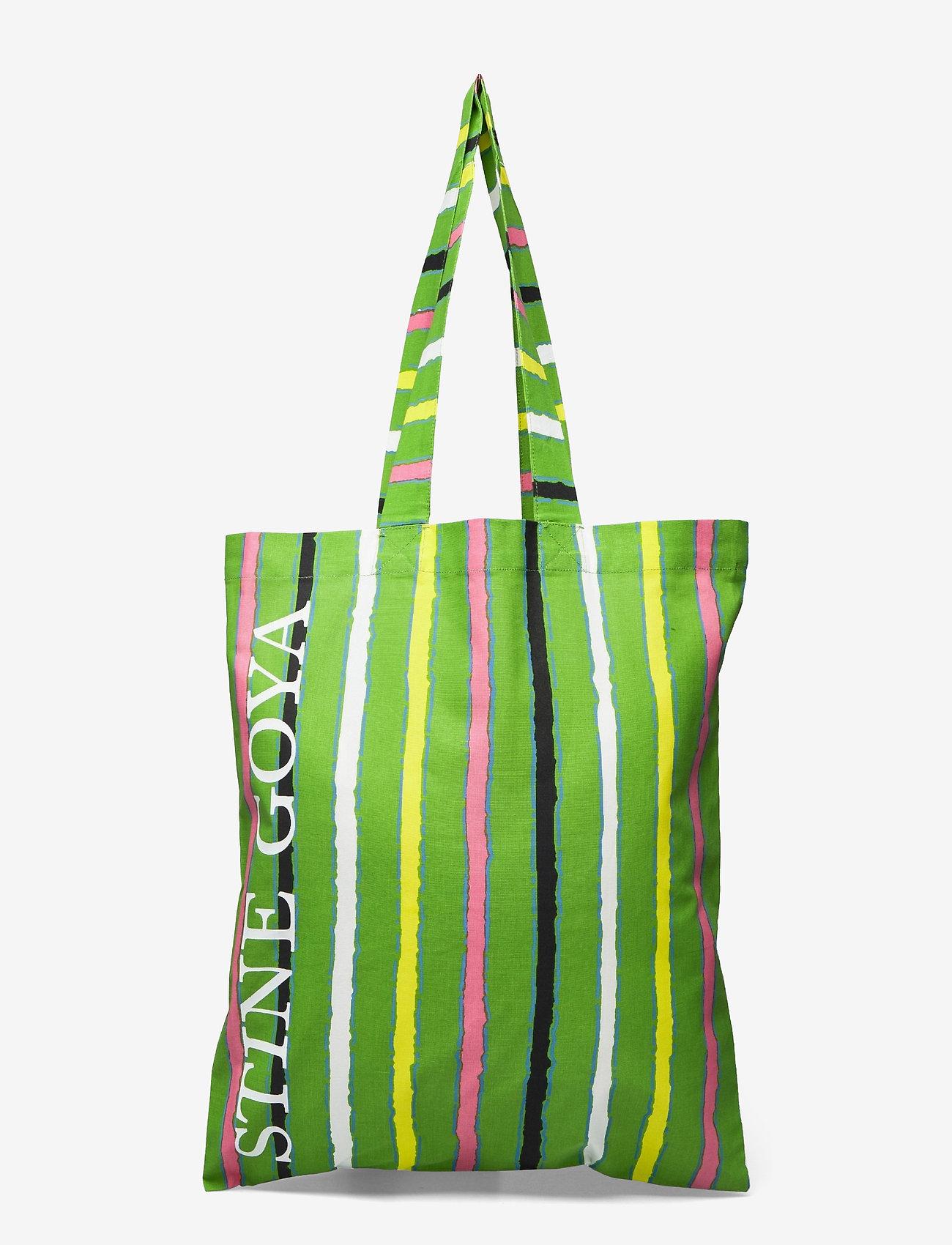 STINE GOYA - Rita, 1197 Tote Bag - tote bags - stripes green - 0
