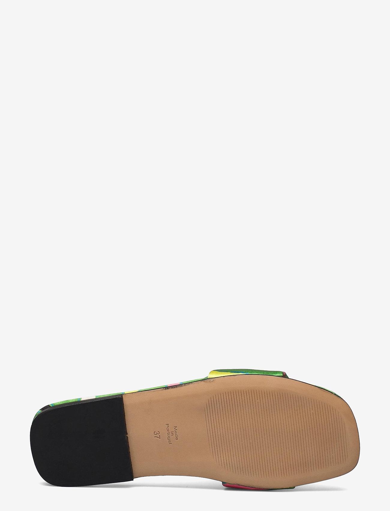STINE GOYA - Henra, 1193 Satin Shoes - flade sandaler - stripes green - 4