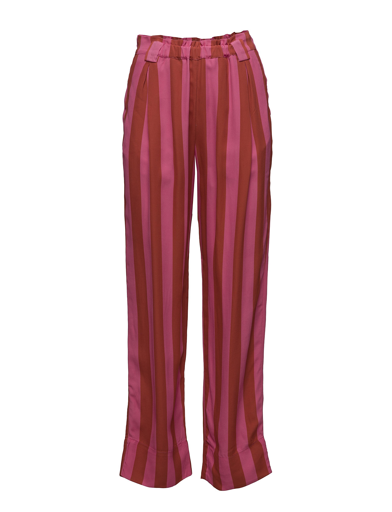 STINE GOYA Vinnie, 416 Viscose - STRIPES RASPBERRY