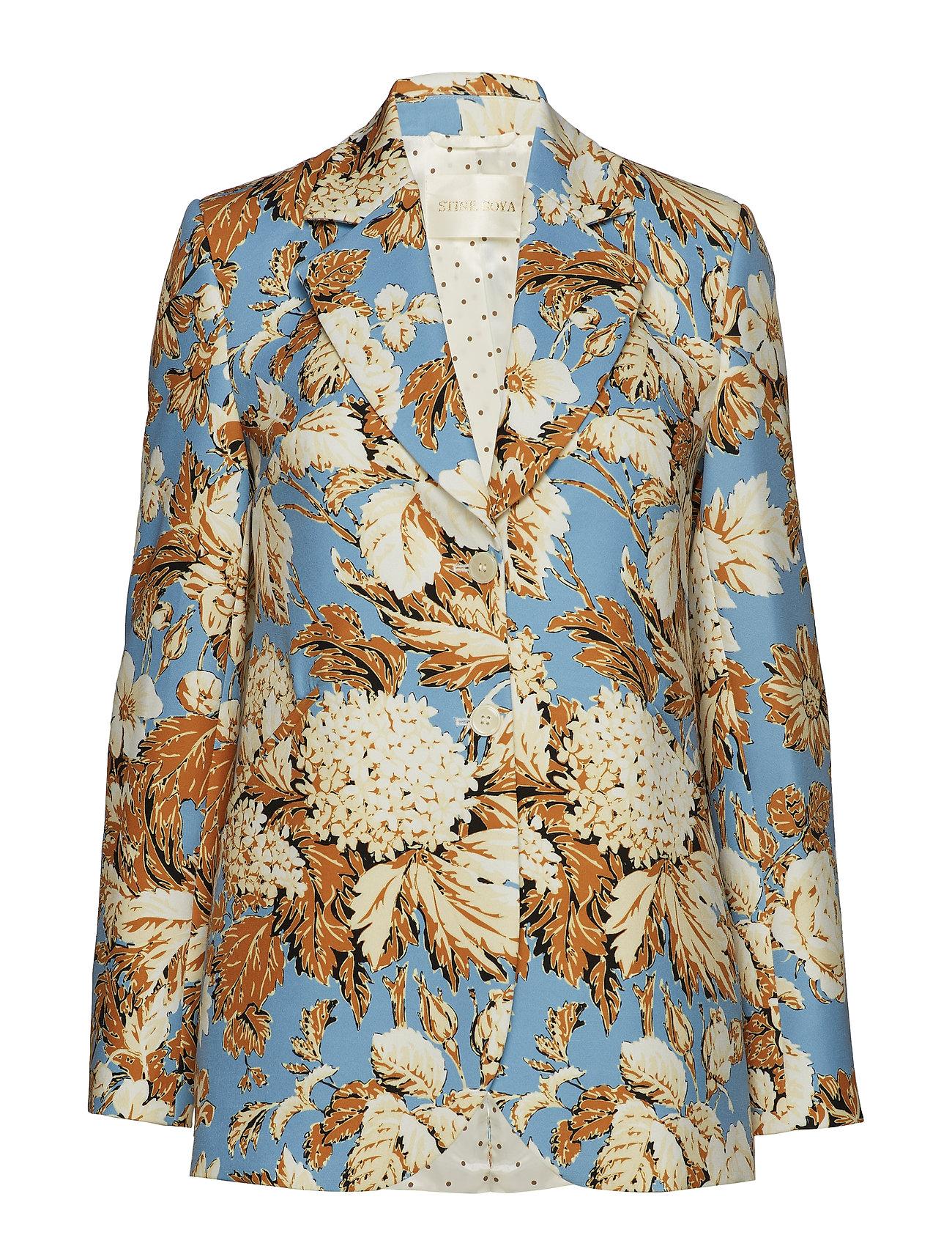 STINE GOYA Florence, 529 Printed Tailoring - BLUE HORTENSIA