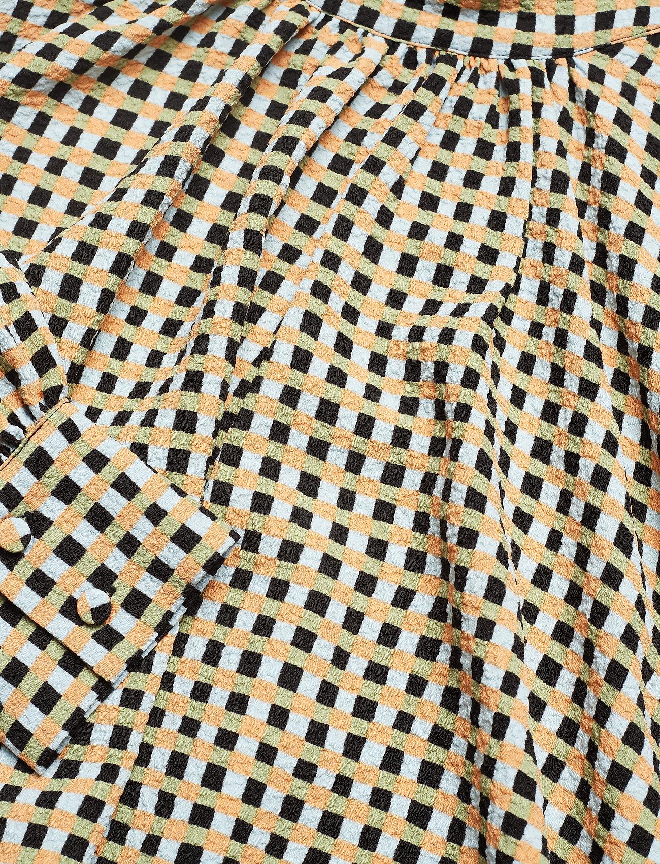 Stretchgingham OrangeStine Goya Structure Eddy634 8OmNn0vw