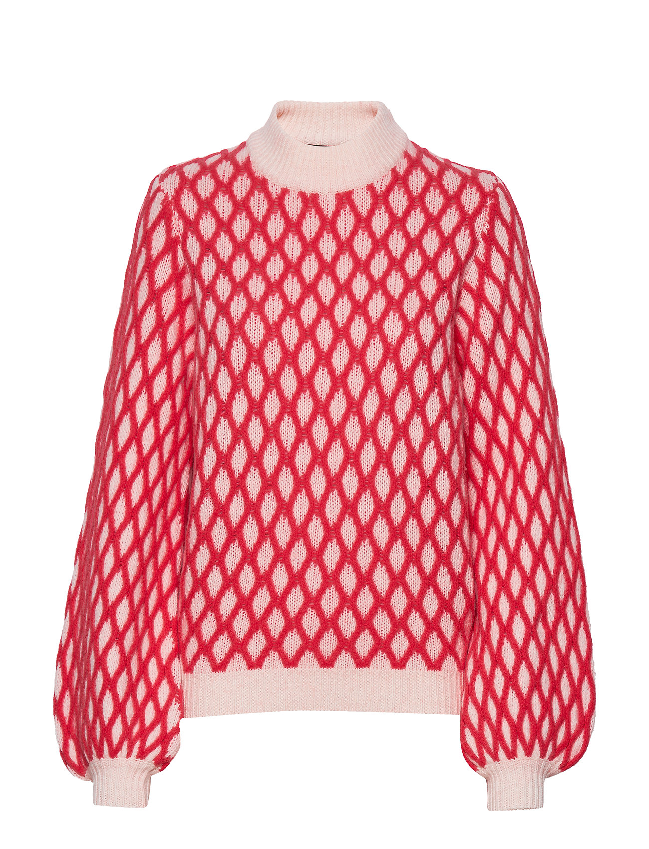 STINE GOYA Carlo, 652 Contrast Cable Knit - RED