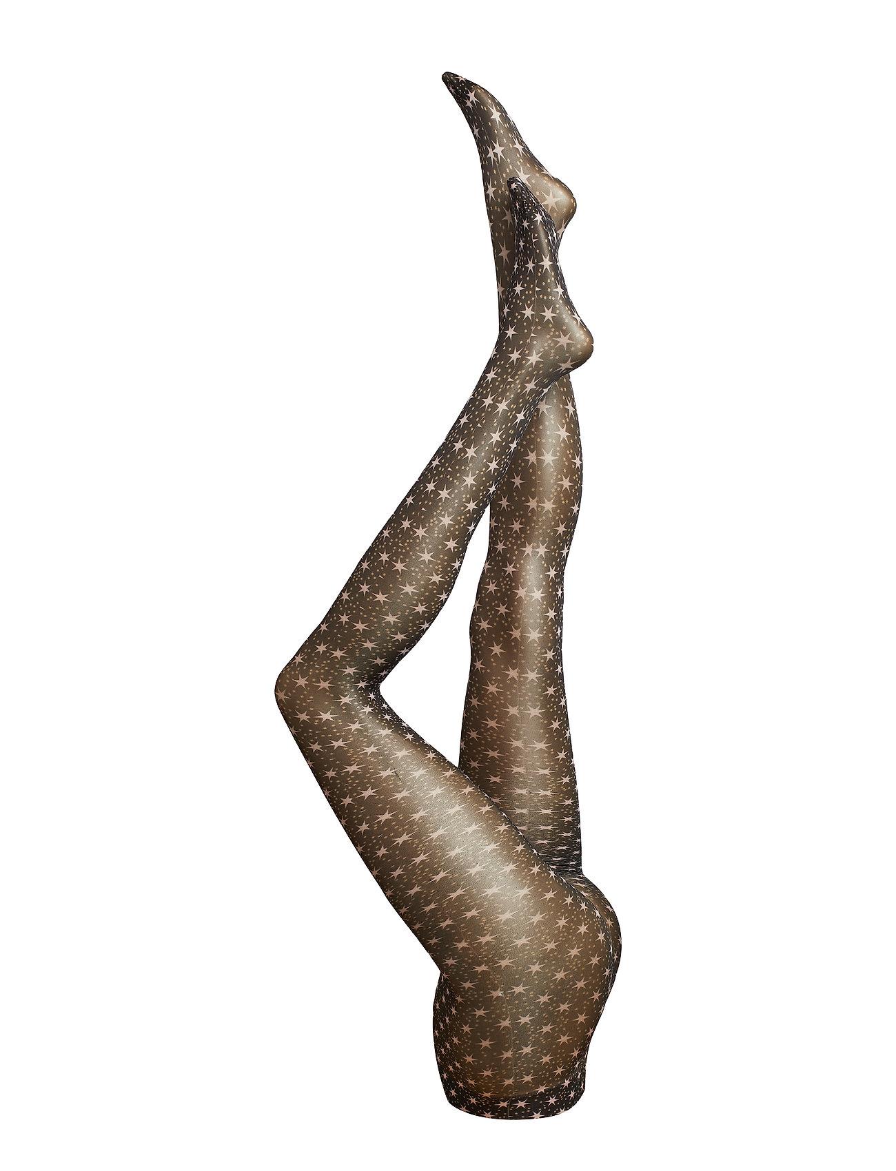 STINE GOYA Ady, 641 Printed Stockings - STARS BLACK