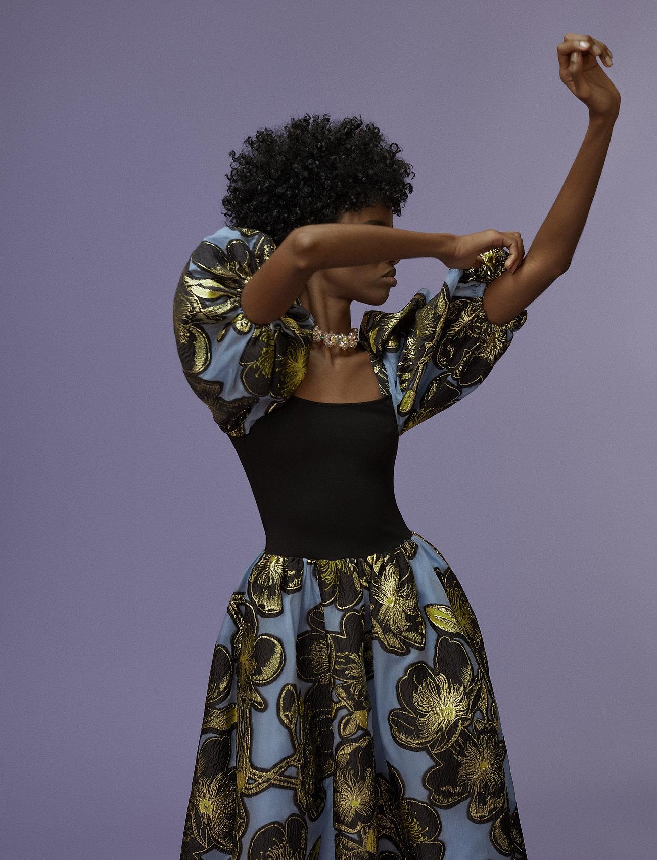 STINE GOYA - Monika, 701 Organza - midiklänningar - jasmine gold - 0