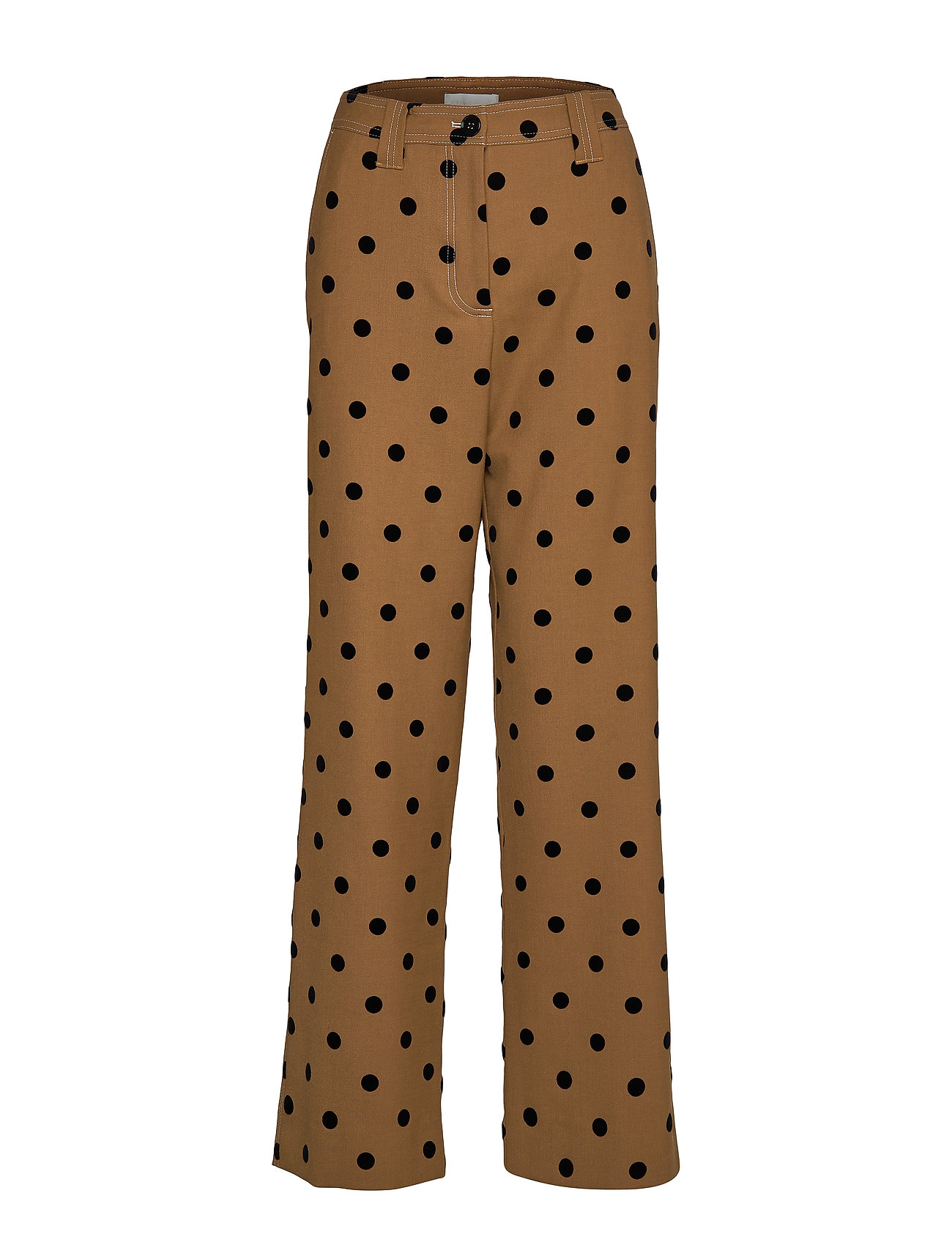 Image of John, 705 Wool Tailoring Vide Bukser Brun STINE GOYA (3291426695)