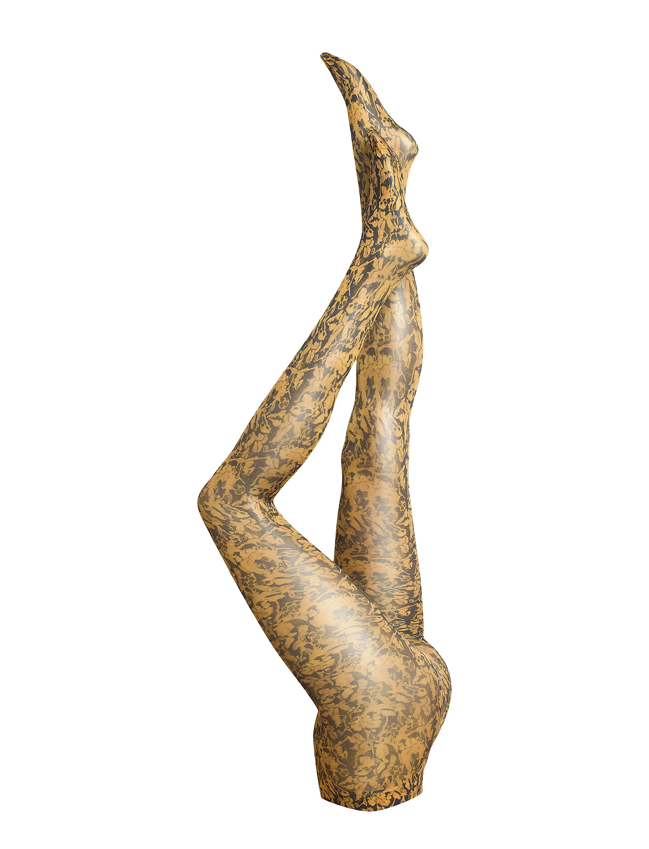 STINE GOYA Ady, 732 Printed Stockings - ANTIQUE YELLOW