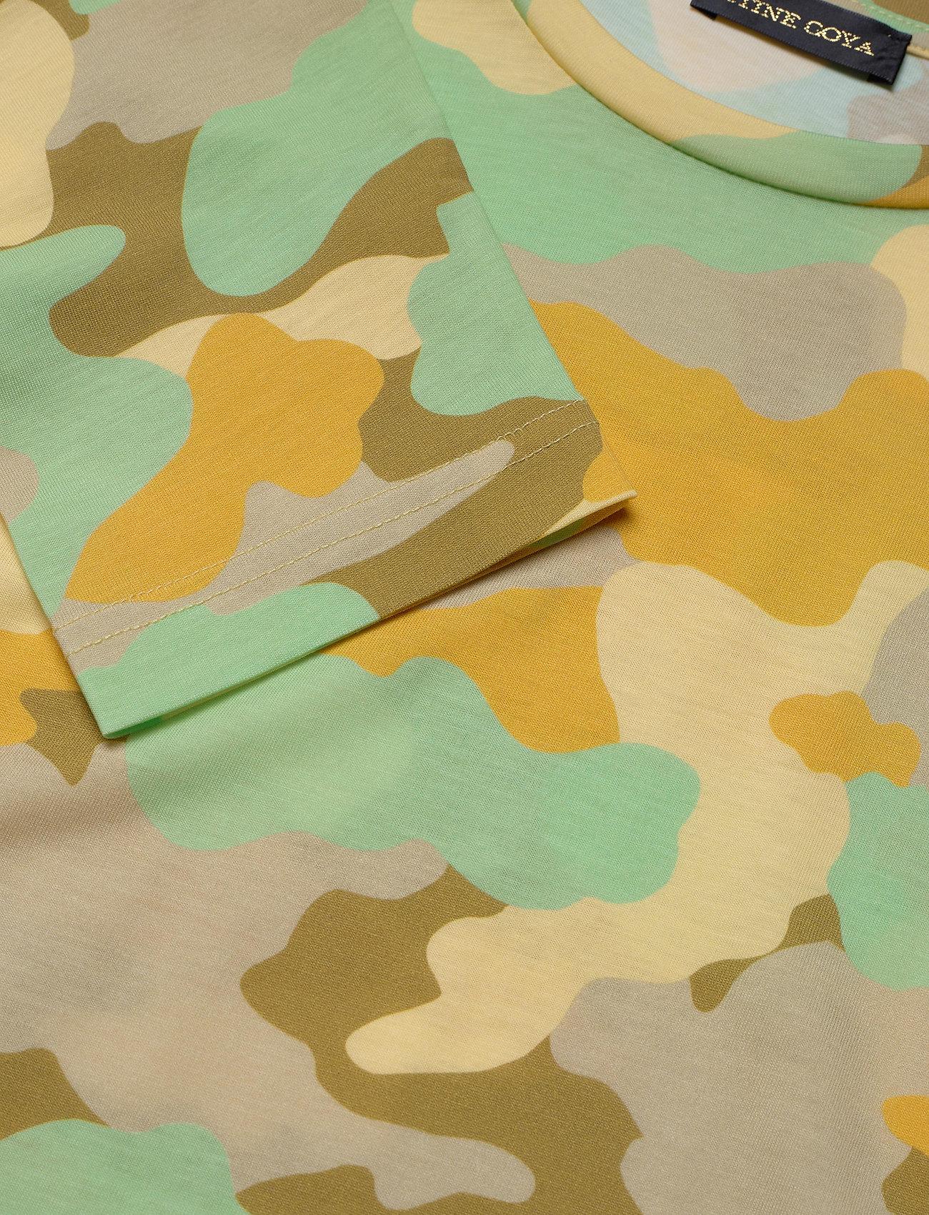 STINE GOYA - Caleb, 840 Allover Tee - långärmade toppar - camouflage green - 2