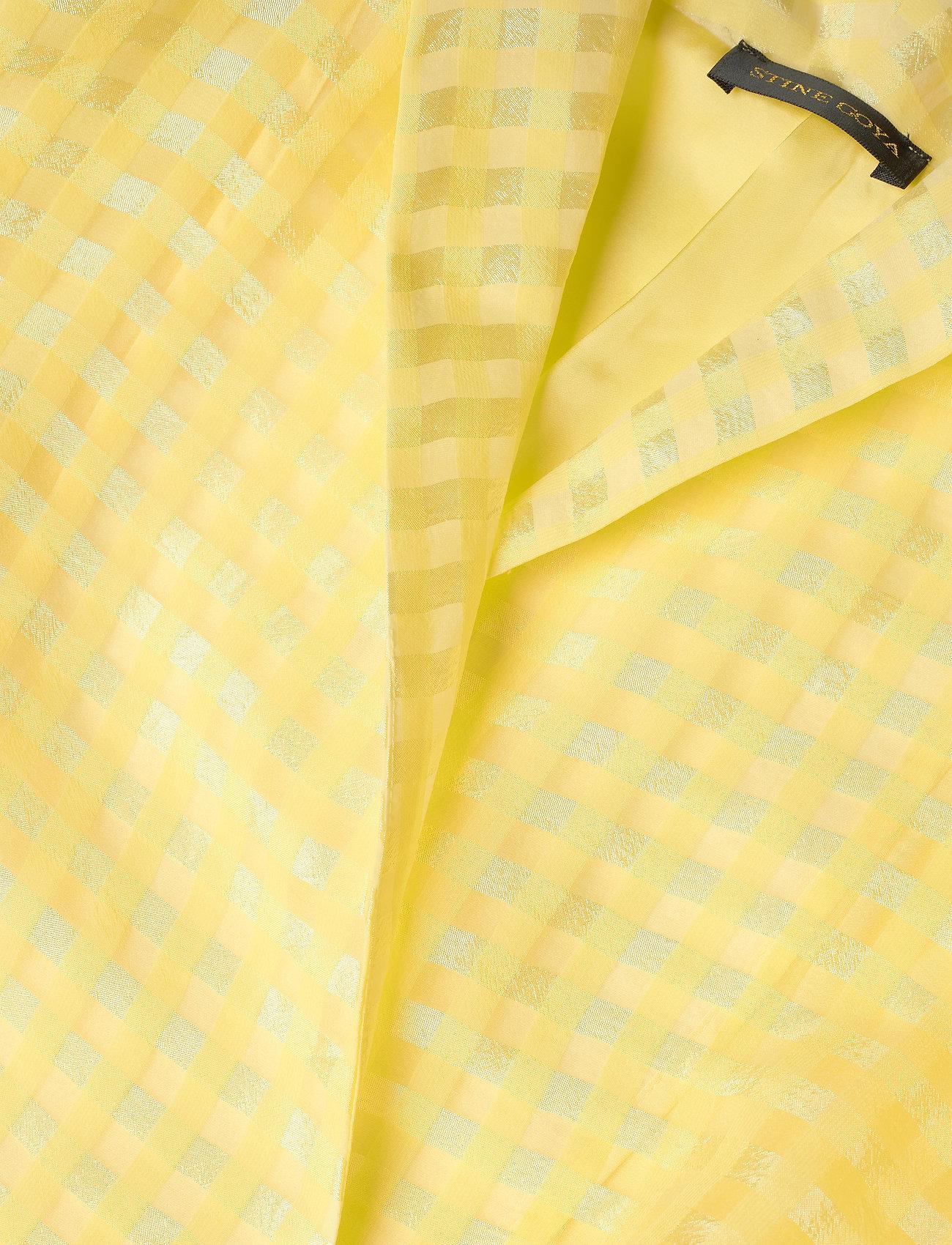 STINE GOYA - Chinie, 864 Gingham Poly - omlottklänningar - marigold - 2