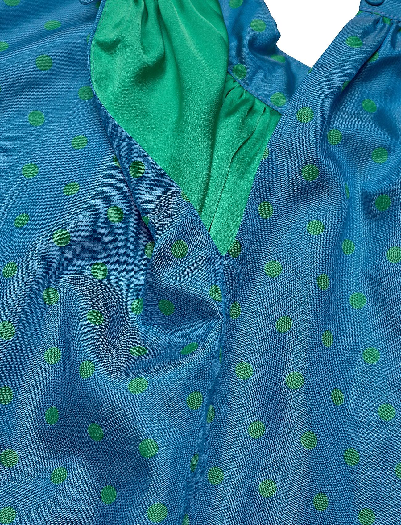STINE GOYA - Wendy, 870 Green Blue Dots - midiklänningar - blue green - 5