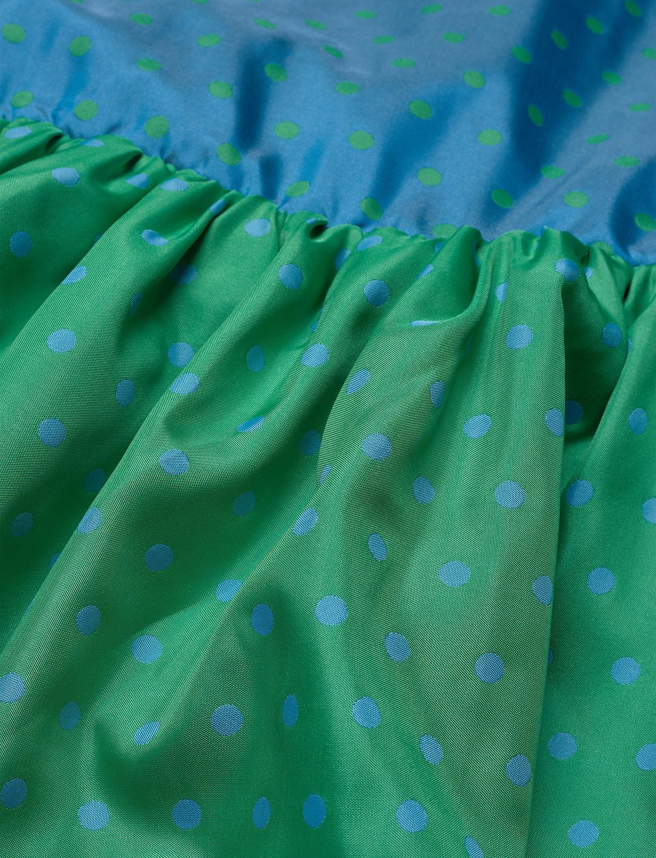 STINE GOYA - Wendy, 870 Green Blue Dots - midiklänningar - blue green - 6