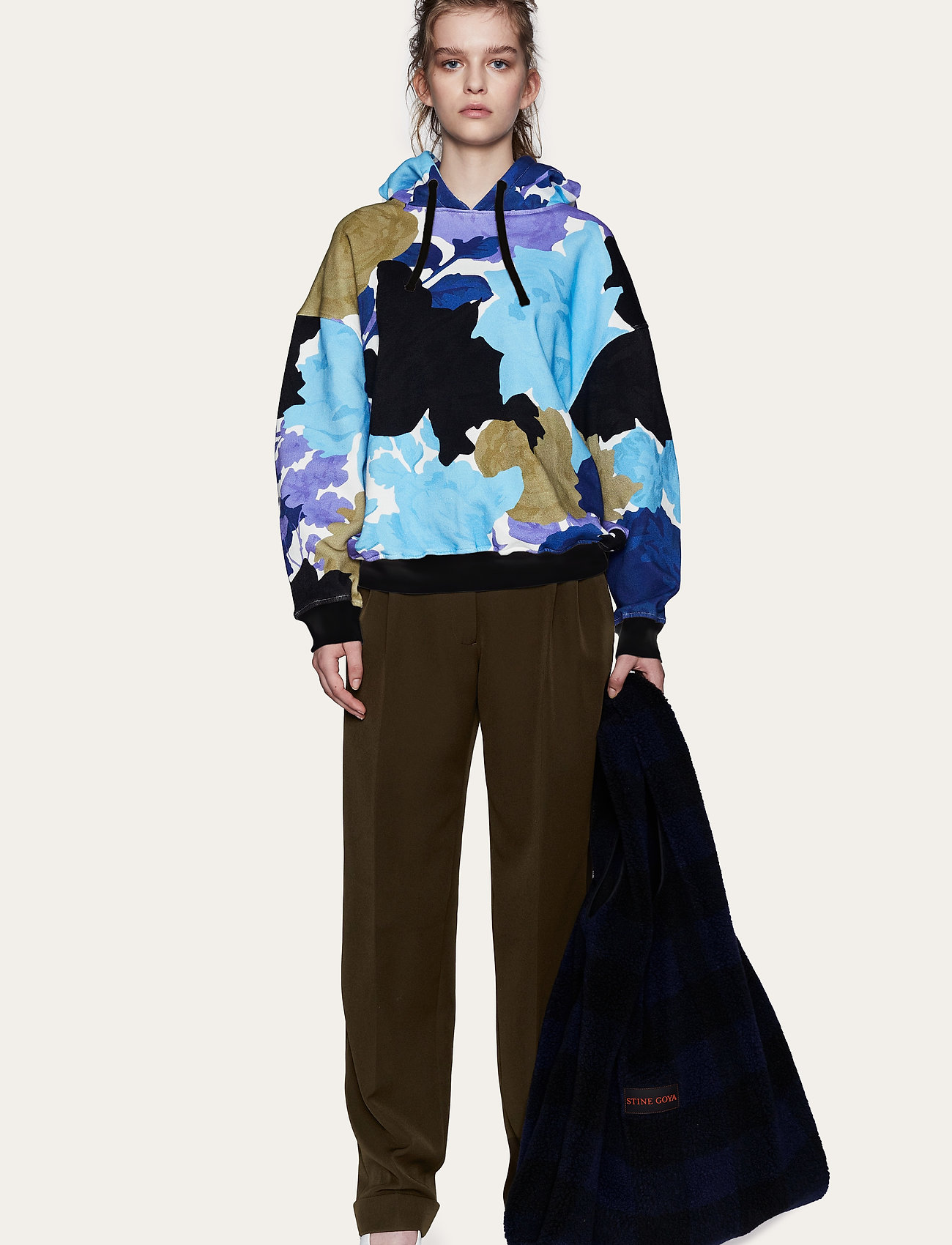 STINE GOYA - Adrisa, 1080 Hoodie - sweatshirts & hættetrøjer - rosegarden blue - 0