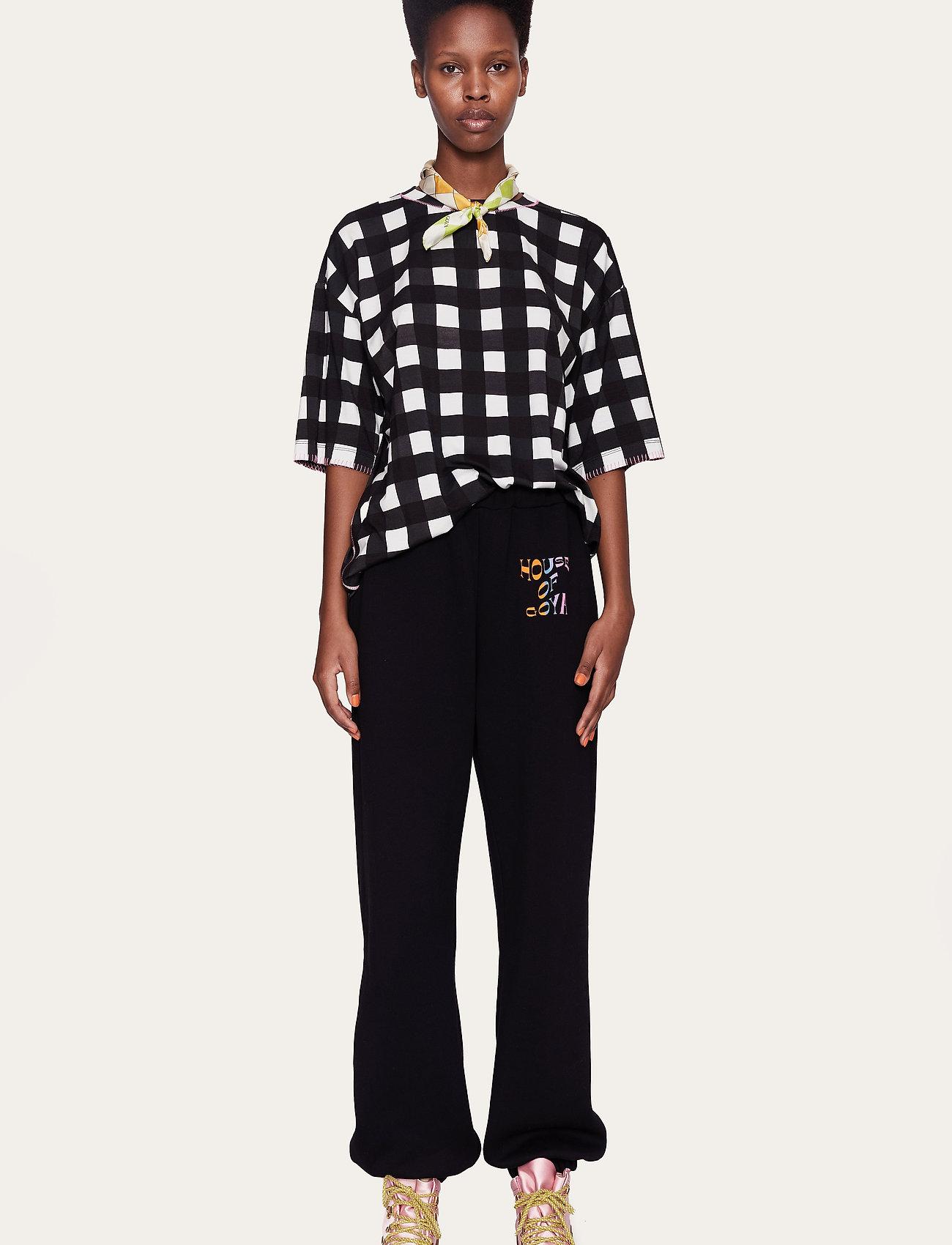 STINE GOYA - Boris, 1003 Drapy Jersey - t-shirts - gingham black - 0
