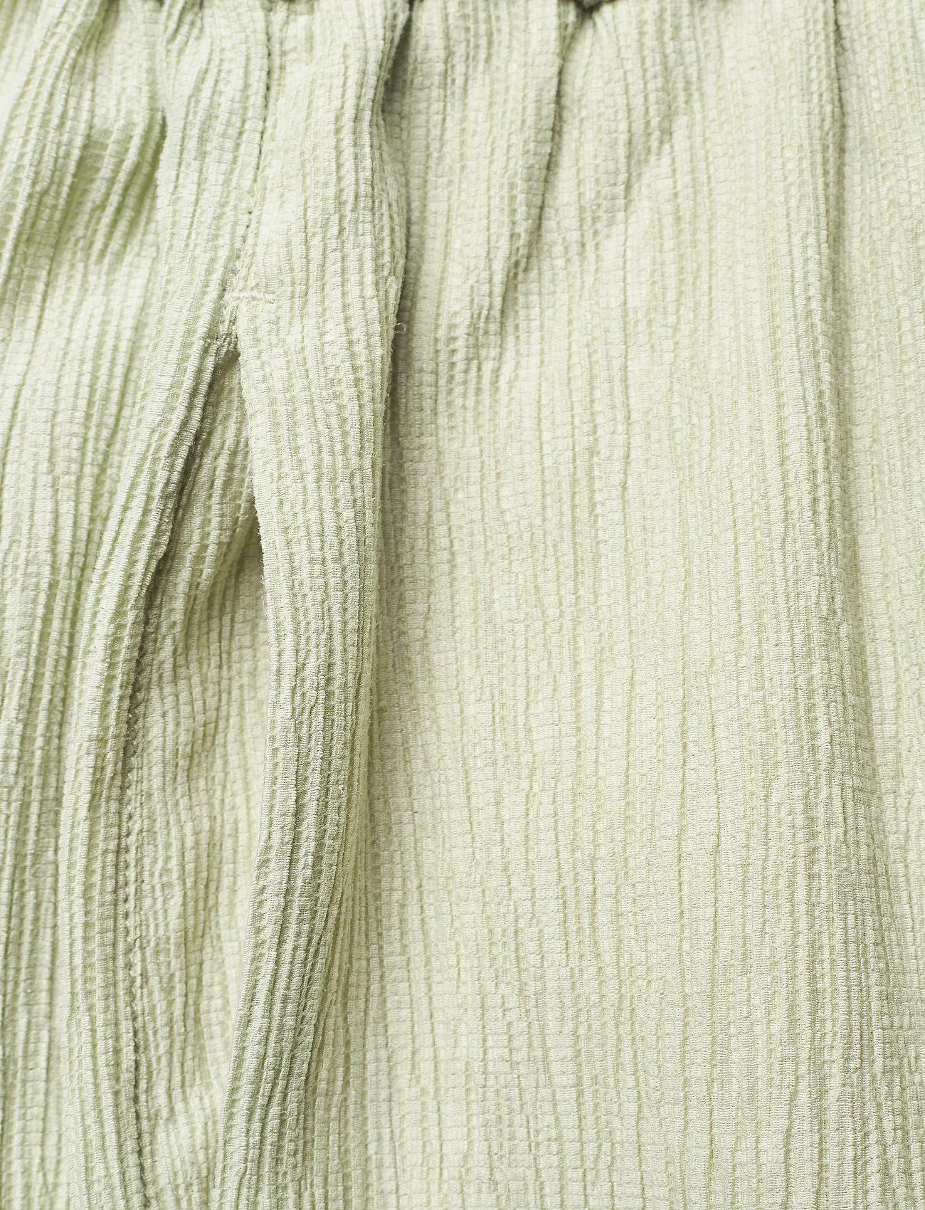 STINE GOYA - Gulcan, 1143 Crinkled Tencel - bukser med brede ben - sage - 3