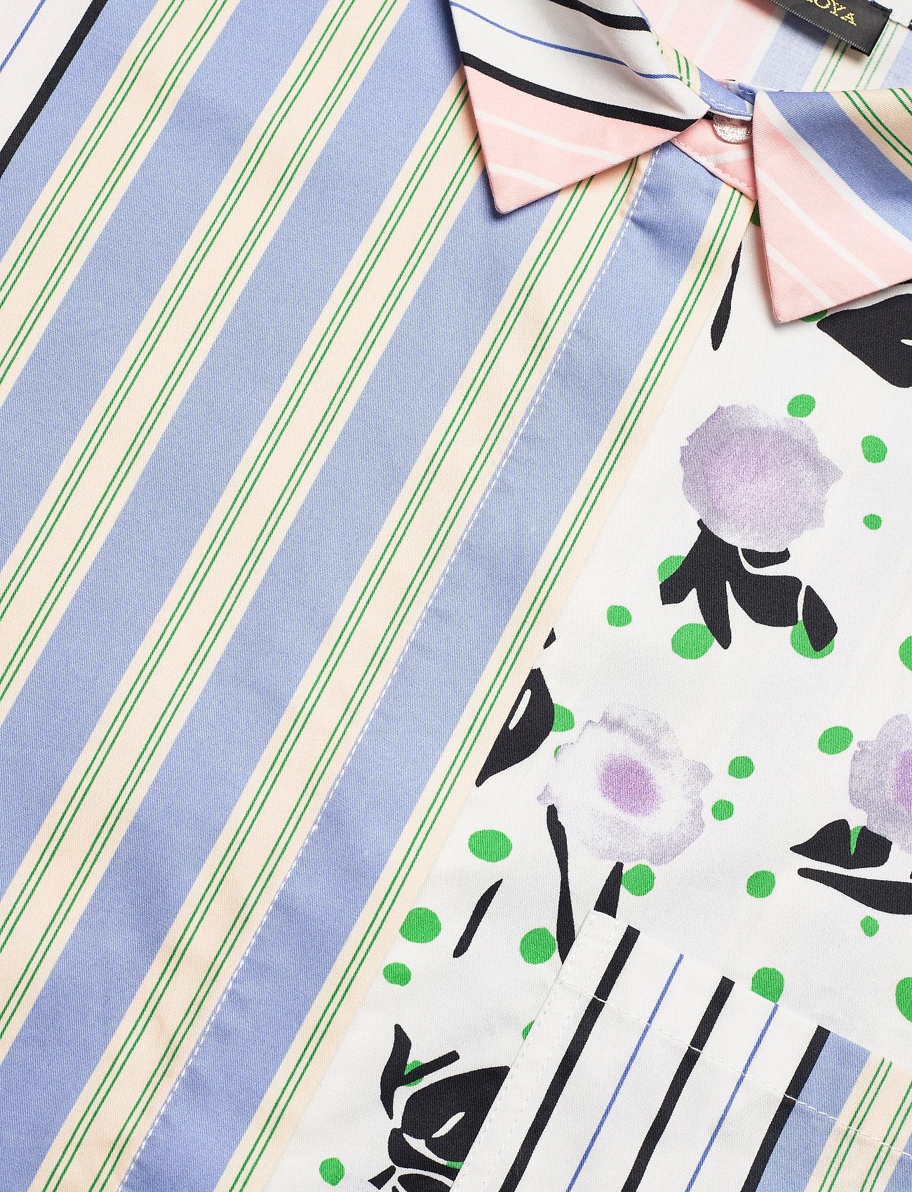STINE GOYA - Luna, 1172 Printed Cotton - langærmede bluser - flowermarket stripes - 3