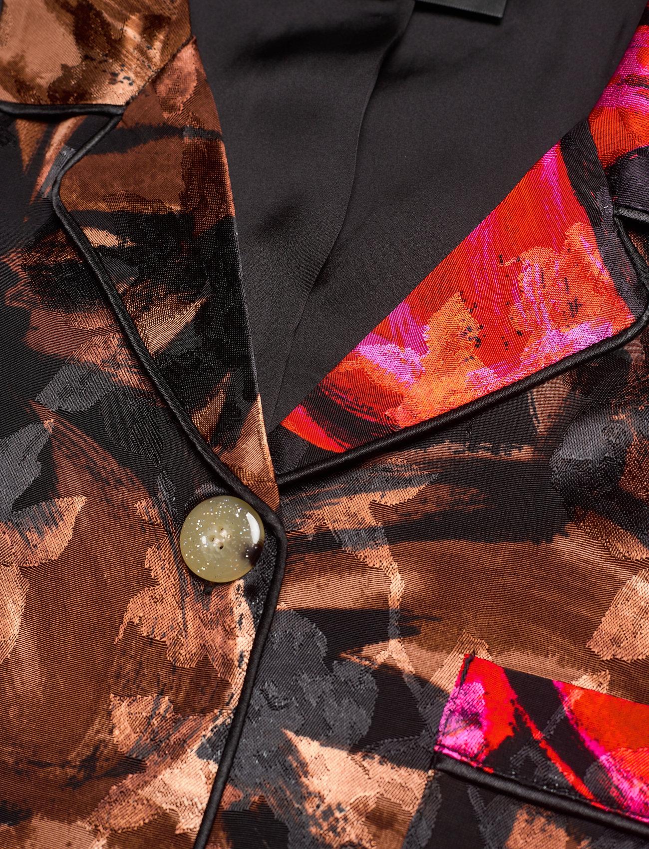 STINE GOYA - Tjasa, 1167 Pajama Jacquard - langærmede bluser - opium brown - 2
