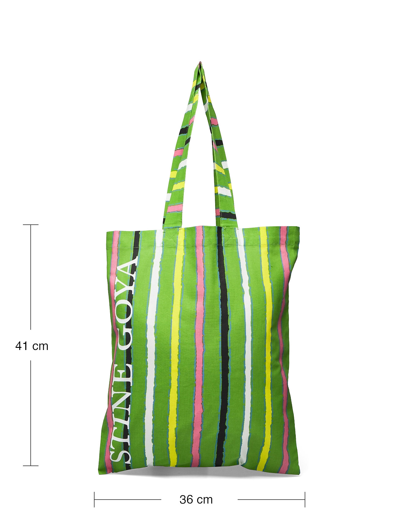 STINE GOYA - Rita, 1197 Tote Bag - tote bags - stripes green - 4