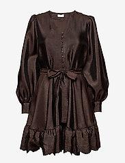 STINE GOYA - Farrow, 699 Textured Polyester - cocktailkjoler - mocha - 0