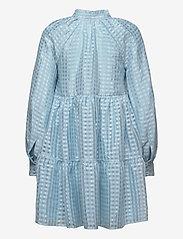 STINE GOYA - Jasmine, 864 Gingham Poly - korta klänningar - ice - 2