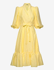 STINE GOYA - Chinie, 864 Gingham Poly - omlottklänningar - marigold - 0