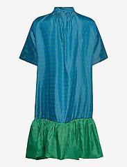 STINE GOYA - Wendy, 870 Green Blue Dots - midiklänningar - blue green - 2