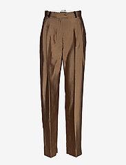 STINE GOYA - Chet, 847 Tailoring - bukser med lige ben - mocha - 0