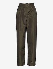 STINE GOYA - Laia, 924 Taffeta - bukser med lige ben - seaweed green - 1
