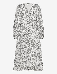STINE GOYA - Bernard, 940 Lurex Organza - slå-om-kjoler - birch white - 1