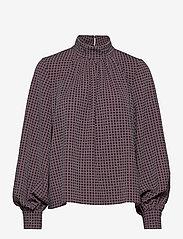 STINE GOYA - Eddy, 1081 Grid Stretch - langærmede bluser - grid - 1