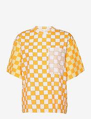STINE GOYA - Katalina, 1083 Allover Tee - t-shirts - checks - 0