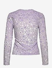 STINE GOYA - Maya, 1087 Velvet Devoré - långärmade blusar - dots lilac - 2