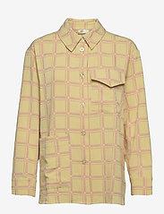 STINE GOYA - Silvi, 1091 Grid Stretch - långärmade skjortor - grid fog - 0