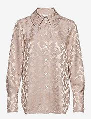 STINE GOYA - James, 1099 Viscose Jacquard - langærmede skjorter - distortion - 0