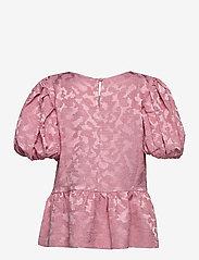 STINE GOYA - Miren, 1140 Distortion Jacquard - kortärmade blusar - distortion pink - 2
