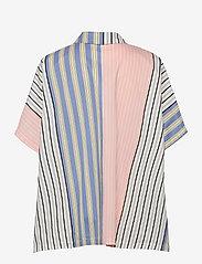STINE GOYA - Luna, 1172 Printed Cotton - langærmede bluser - flowermarket stripes - 2