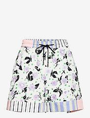 STINE GOYA - Klodi, 1172 Printed Cotton - korte nederdele - flowermarket stripes - 0