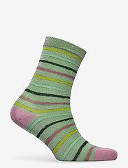 STINE GOYA - Caty, 1203 Socks - almindelige strømper - stripes green lurex - 1