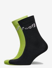 STINE GOYA - Leira, 1207 Rib Socks - almindelige strømper - lime black - 0