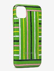 STINE GOYA - Molly, Iphone Cover 11 - mobiele telefoon hoesjes - stripes green - 1