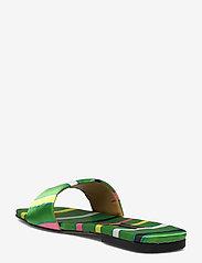 STINE GOYA - Henra, 1193 Satin Shoes - flade sandaler - stripes green - 2