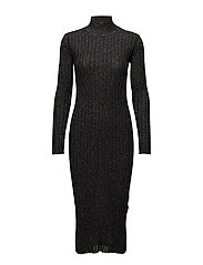 Luise, 342 Ribbed Sparkle knit - BLACK