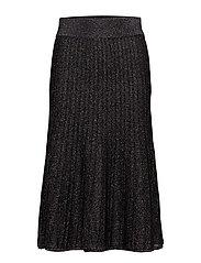 Emilia, 342 Ribbed Sparkle knit - BLACK