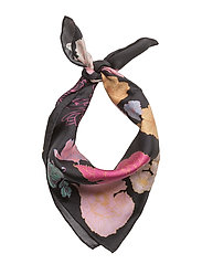 Tilda, 398 Silk Scarves - FLOWERS DARK