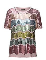 Cecilia, 397 Sequins T-shirt - MULTICOLOUR