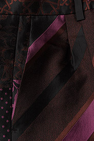 STINE GOYA - Sonia, 389 Collage Tailored - leveälahkeiset housut - collage rust - 2