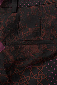 STINE GOYA - Sonia, 389 Collage Tailored - leveälahkeiset housut - collage rust - 4