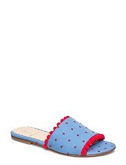 Seya, 405 Pompom shoes - BLUE DOTS