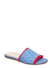 Seya, 405 Pompom shoes - BLUE DOTS